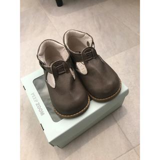 ボンポワン(Bonpoint)のzoom baby T-strap14cm【GREGE】(サンダル)