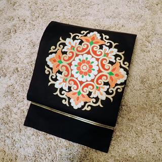 帯【モダン】花柄刺繍