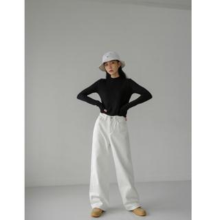 BLACK UP ワイドパンツ 腰高 韓国ブランド ブラックアップ