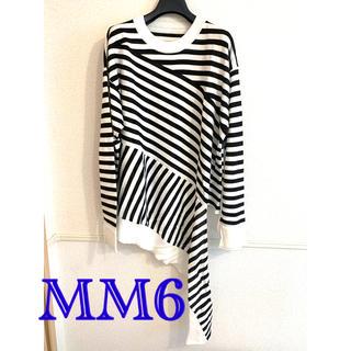 エムエムシックス(MM6)のMM6 MAISON MARGIELA マルジェラ プルオーバー 黒 白(Tシャツ/カットソー(半袖/袖なし))
