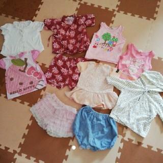 ミキハウス(mikihouse)の〔サイズ80-90〕ブランド多数女の子夏服セット(Tシャツ/カットソー)