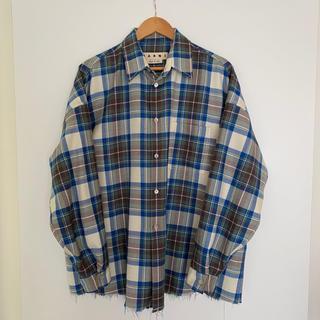マルニ(Marni)のMARNI 19SS オーバーサイズウールチェックシャツ(シャツ)
