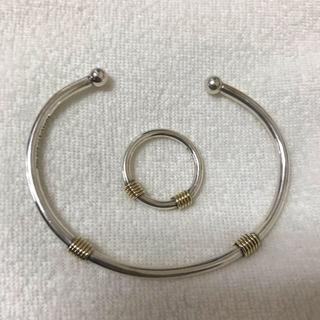 Tiffany & Co. - ティファニー 925 750 コンビリング バングル バンドウィズ 指輪