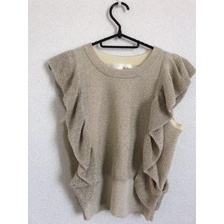 リリーブラウン(Lily Brown)のラメカットソー(Tシャツ/カットソー(半袖/袖なし))
