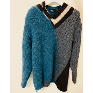 カラー(kolor)のkolor 20aw knit.   Blue × gray size 3(ニット/セーター)