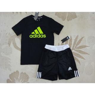 adidas - 新品★adidasアディダス★150★快適!!半袖Tシャツ・ハーフパンツ★黒