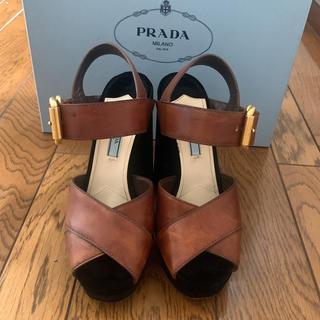 PRADA - プラダ ベロアサンダル 美品