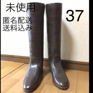 ファビオルスコーニ(FABIO RUSCONI)のファビオルスコーニ 37 茶 革 23.5 24 ジョッキー ブーツ ペタンコ(ブーツ)
