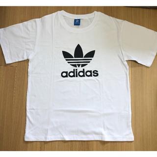 adidas - adidas  ホワイトTシャツ ロゴ