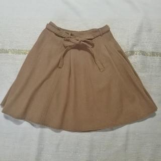 プーラフリーム(pour la frime)のキャメル フレアスカート(ひざ丈スカート)