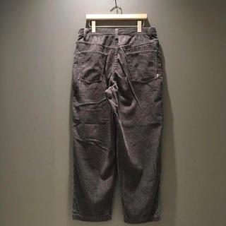 BEAMS - XLサイズ SSZ BACKSIDE B CORD PANTS チャコールグレー