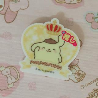 ポムポムプリン(ポムポムプリン)のサンリオ♡ポムポムプリン♡推しバッジ♡新品未使用(バッジ/ピンバッジ)