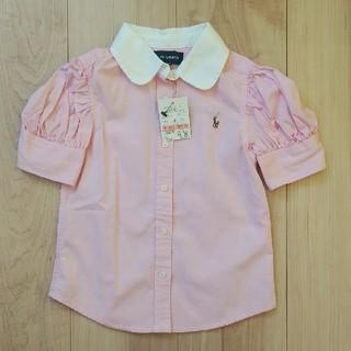 Ralph Lauren - 未使用タグ付き ラルフローレン 半袖シャツ ピンク 100