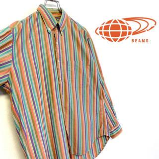 ビームス(BEAMS)の美品 BEAMS マルチカラーストライプ コットンBDシャツ(シャツ)