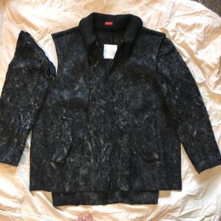 アンダーカバー(UNDERCOVER)の美品 アンダーカバー UNDERCOVER ウール ドッキング ジャケット L(ノーカラージャケット)