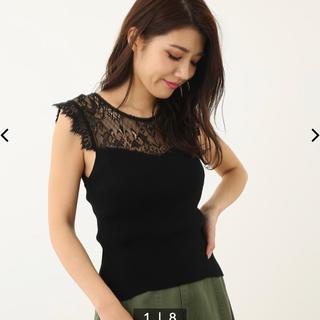 リエンダ(rienda)のrienda トップス黒(カットソー(半袖/袖なし))