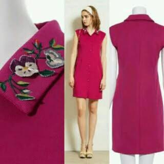 リリーブラウン(Lily Brown)のリリーブラウン 襟刺繍ワンピース(ミニワンピース)