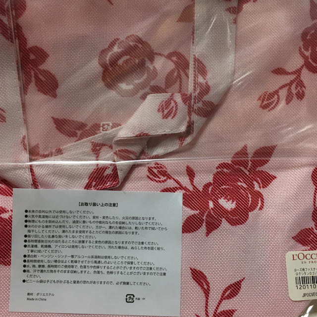 L'OCCITANE(ロクシタン)のローズ柄ファスナー付ミニトート  L'OCCITANE ロクシタン レディースのバッグ(トートバッグ)の商品写真