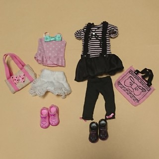 タカラトミー(Takara Tomy)のリカちゃん リカちゃん人形用 服 靴 バッグのセット(ぬいぐるみ/人形)