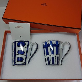 Hermes - 【売り切れです!】      エルメス ブルーダイユール マグカップ (2個)!