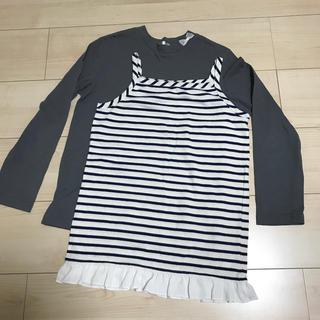 イッカ(ikka)の長袖シャツ キャミソール 140(Tシャツ/カットソー)
