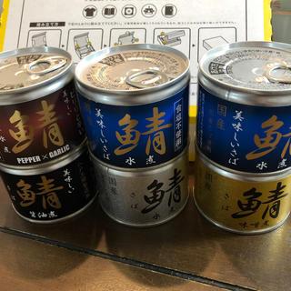 伊藤食品サバ缶5種 6缶(缶詰/瓶詰)