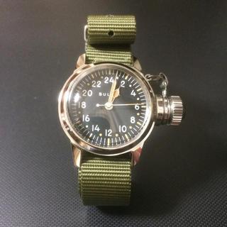 ブローバ(Bulova)のブローバ軍用 24時間文字盤 BUSHIPS 水中破壊工作部隊 未使用ケース(腕時計(アナログ))