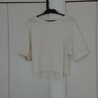 アースミュージックアンドエコロジー(earth music & ecology)のボリュームパフTシャツ アイボリー(Tシャツ(半袖/袖なし))
