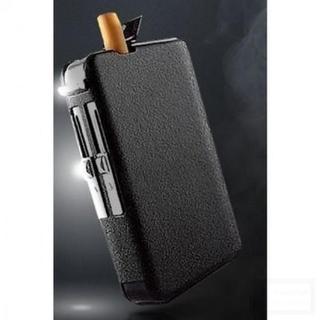 ★便利★ ライター付き タバコケース ターボライター 一体型(タバコグッズ)