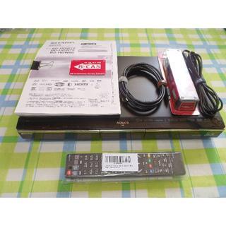 シャープ(SHARP)のHDD1TB 2番組同時録画 AQUOS ブルーレイレコーダー BD-HDW80(ブルーレイレコーダー)