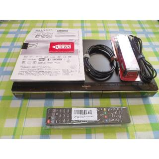 SHARP - HDD1TB 2番組同時録画 AQUOS ブルーレイレコーダー BD-HDW80