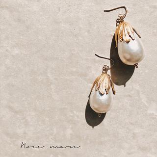 -big perl tierdrop-(ピアス)