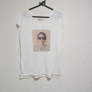 しまむら - デザインTシャツ レディース Vネック L