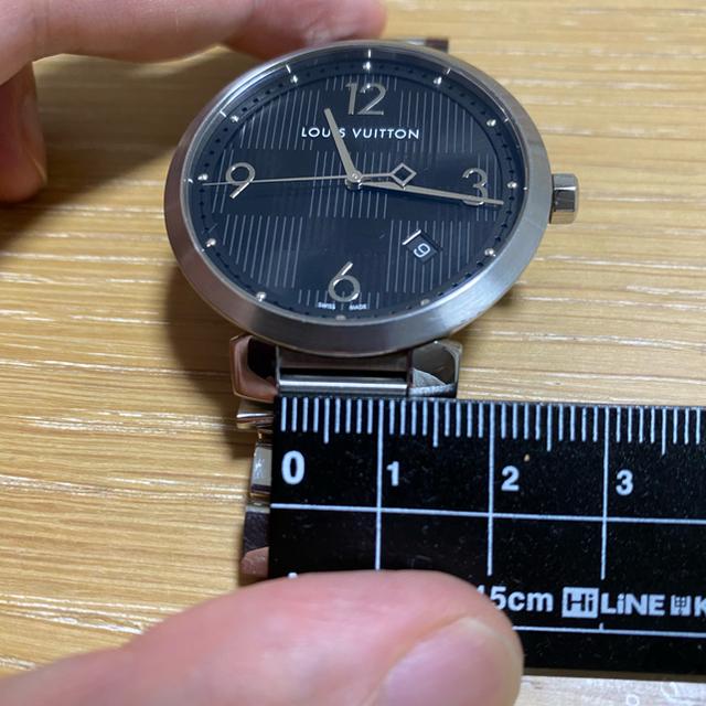 LOUIS VUITTON(ルイヴィトン)のルイヴィトン タンブール ダミエ クォーツ腕時計 メンズ メンズの時計(腕時計(アナログ))の商品写真
