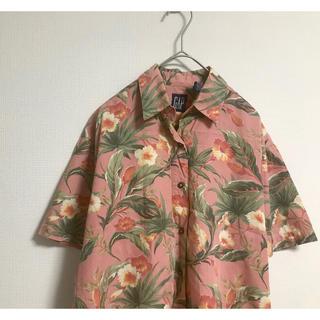 ギャップ(GAP)の古着 GAP 花柄 ピンク 柄シャツ 半袖 シャツ (シャツ/ブラウス(半袖/袖なし))