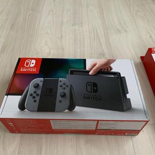 Nintendo Switch - 【美品】Nintendo Switch  グレー 本体  ポーチ付き