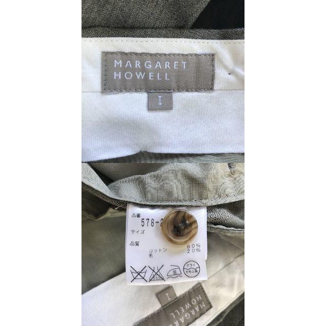 MARGARET HOWELL(マーガレットハウエル)の【人気】マーガレット ハウエル センタータック スラックス サイズI レディース レディースのパンツ(カジュアルパンツ)の商品写真