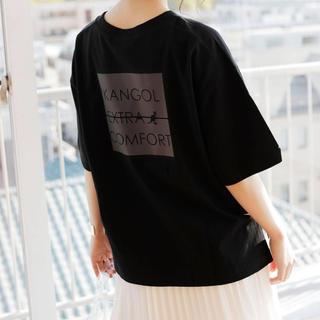 カンゴール(KANGOL)の【KANGOL EXTRA COMFORT】ネーム風ロゴT 黒L(Tシャツ(半袖/袖なし))