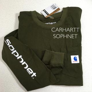 カーハート(carhartt)のCARHARTT SOPHNET  コラボ ロンT 長袖 カーキ(Tシャツ/カットソー(七分/長袖))