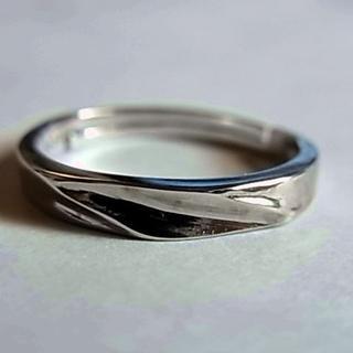 新品SVシルバー925リング指輪11号フリーサイズ調節男性メンズ女性レディース(リング(指輪))