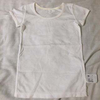 ユニクロ(UNIQLO)のユニクロ 100cm メッシュ 下着 半袖 Tシャツ(下着)