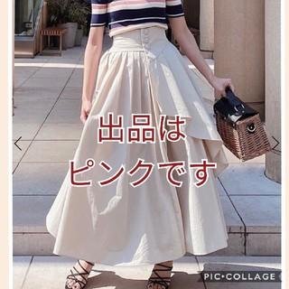 エイミーイストワール(eimy istoire)のフロントボタンタックフレアスカートMサイズ(ロングスカート)