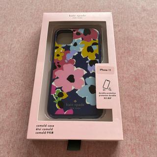 kate spade new york - ケイトスペード iphone11 ケース ネイビー 花柄