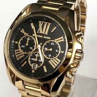 マイケルコース(Michael Kors)の美品 マイケルコース 腕時計 ゴールド × 黒文字盤 定価3.9万円 箱あり(腕時計)