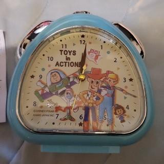 Disney - 新品未使用!トイ・ストーリーさんかくクロック 目覚まし時計 ライト付き 置き時計