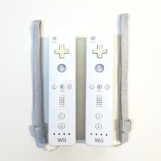 ウィー(Wii)の任天堂 Wii リモコン 2個 ストラップ付(その他)