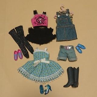 タカラトミー(Takara Tomy)のリカちゃん リカちゃん人形用品 服 ドレス 靴 靴下 色々セット(ぬいぐるみ/人形)