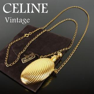 セリーヌ(celine)のセリーヌ ヴィンテージ 香水 ボトル ロング チェーン ネックレス ペンダント(ネックレス)