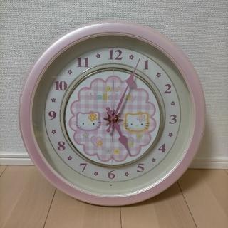 ハローキティ(ハローキティ)のハローキティ からくり時計 美品(掛時計/柱時計)