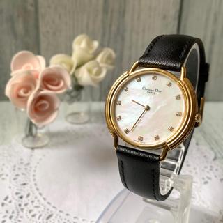 クリスチャンディオール(Christian Dior)の【希少】Christian Dior ディオール 腕時計 ボーイズ 12Pダイヤ(腕時計(アナログ))